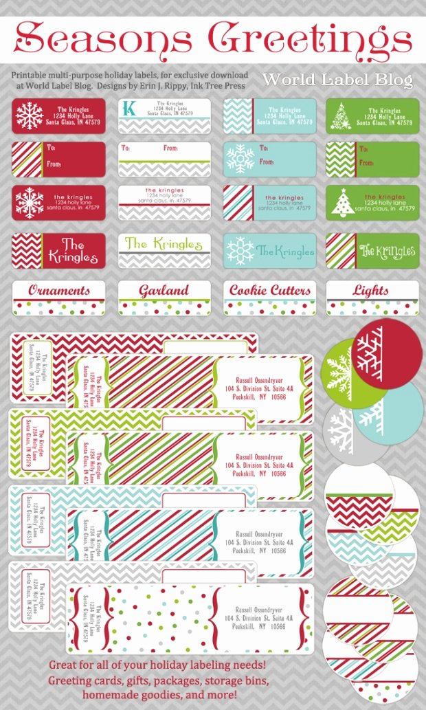 Christmas Mailing Labels Template Unique Free Printable Holiday Address Labels