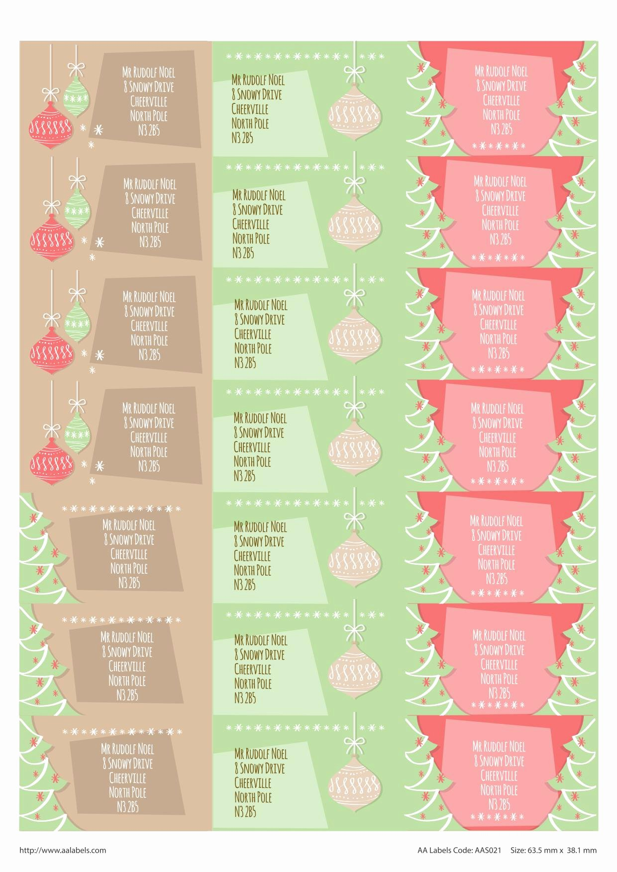 "Christmas Mailing Labels Template Unique ""winter Wishes"" Seasonal Address Labels"