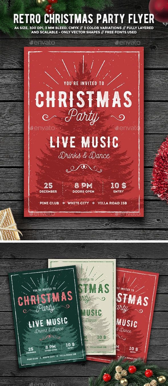 Christmas Party Flyer Template Best Of 1000 Ideas About Christmas Graphic Design On Pinterest