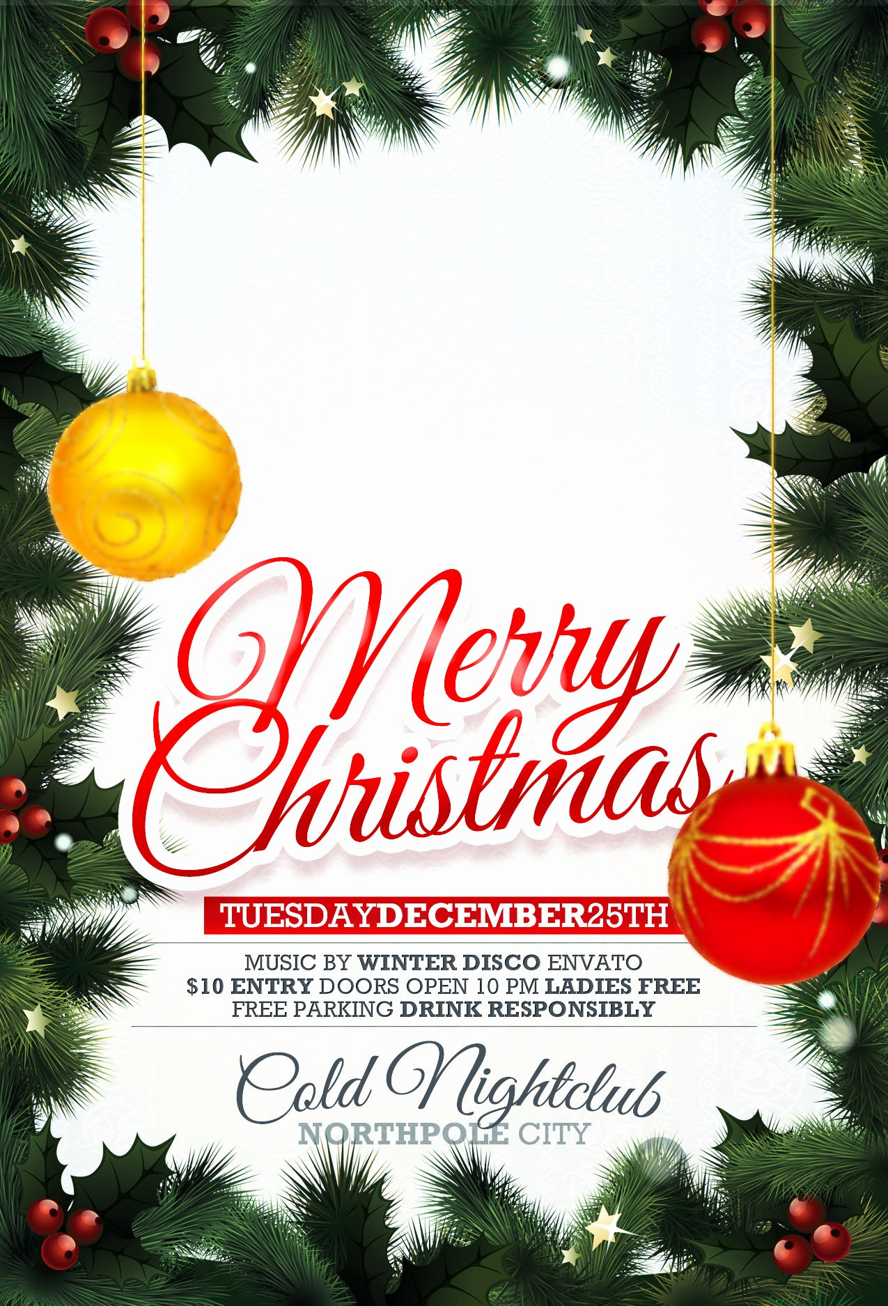 Christmas Party Flyer Template Best Of Free Printable Christmas Party Invitations Templates