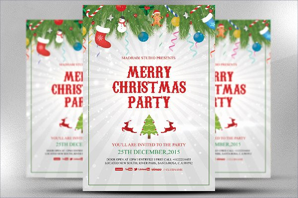 Christmas Party Flyer Template Elegant 34 event Flyer Designs Free Sample Example format