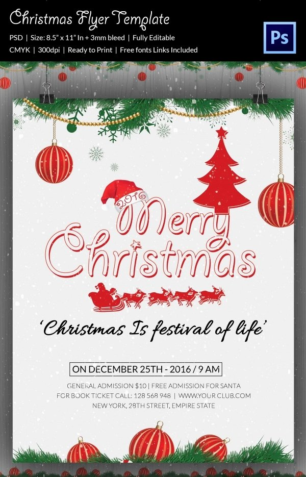 Christmas Party Flyer Template Elegant 60 Christmas Flyer Templates Free Psd Ai Illustrator
