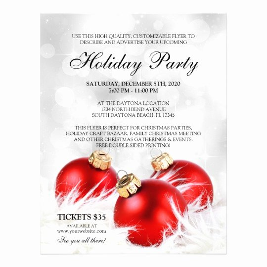 Christmas Party Flyer Template Elegant Business Christmas Flyers Holiday Party Flyer