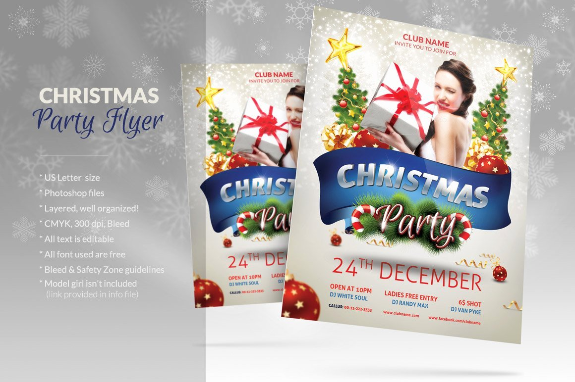 Christmas Party Flyer Template Fresh Christmas Party Flyer Flyer Templates Creative Market