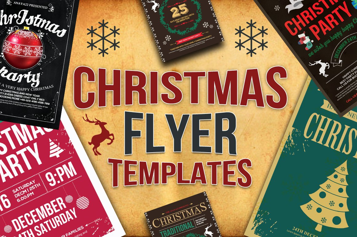 Christmas Party Flyer Template Lovely 10 Christmas Flyers Bundle Flyer Templates On Creative