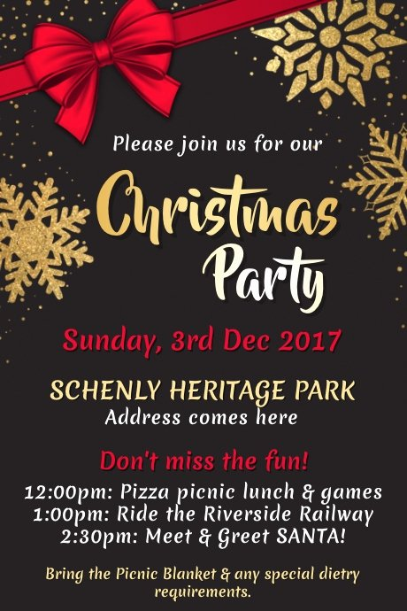 Christmas Party Flyer Template Lovely Christmas Poster Templates