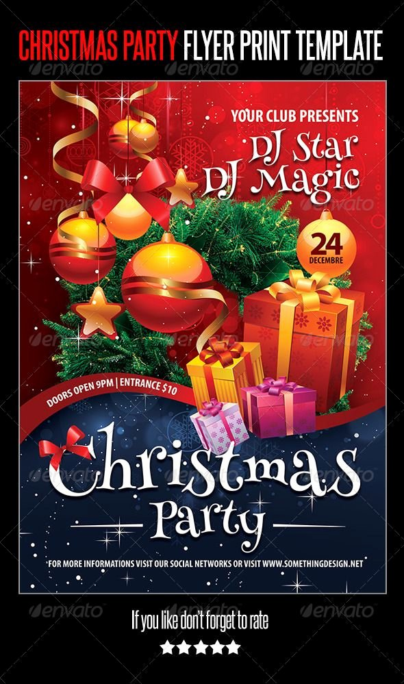 Christmas Party Flyer Template Luxury Christmas Party Flyer Print Template