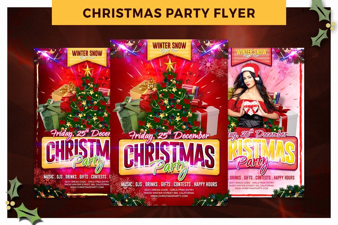 Christmas Party Flyer Template Luxury Christmas Party Flyer Template Flyer Templates