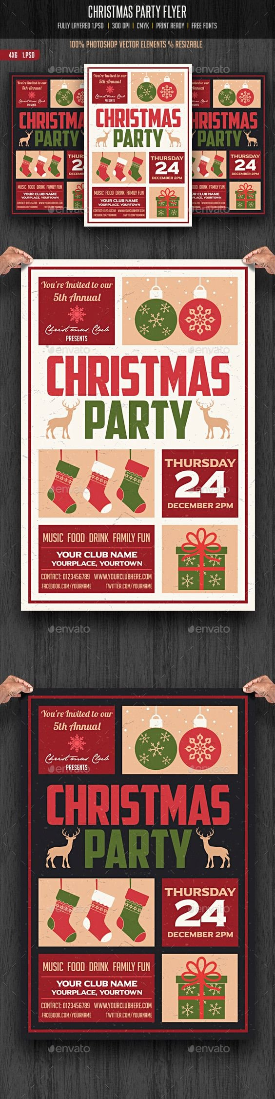 Christmas Party Flyer Template New Christmas Party Flyer