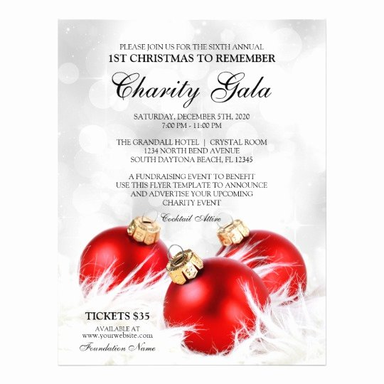 Christmas Party Flyer Template Unique Christmas Charity event Flyer