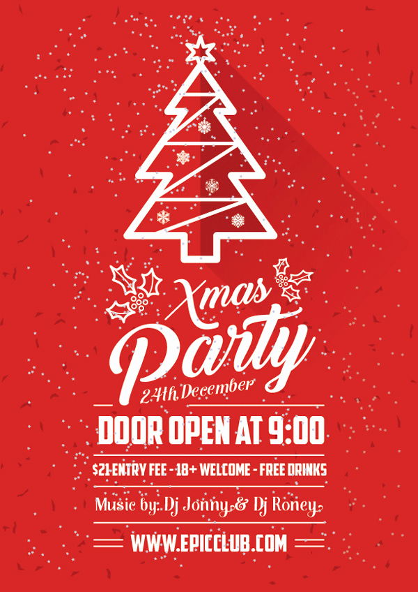 Christmas Party Flyer Template Unique Free A4 Christmas Party Flyer Design Template & Mock Up