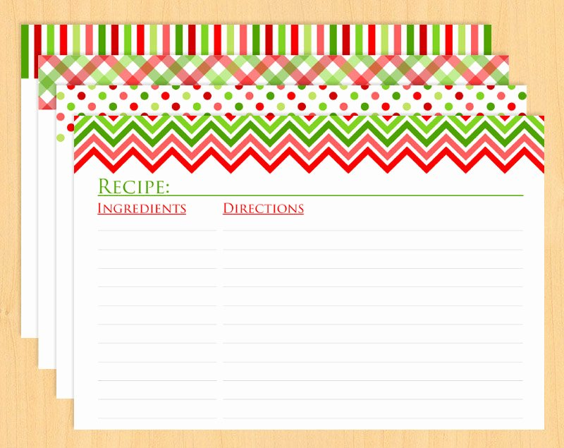 Christmas Recipe Card Template Beautiful 15 Recipe Card Designs