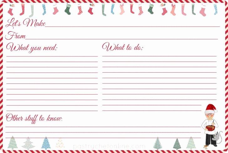 Christmas Recipe Card Template Beautiful Template Recipe Card Templates