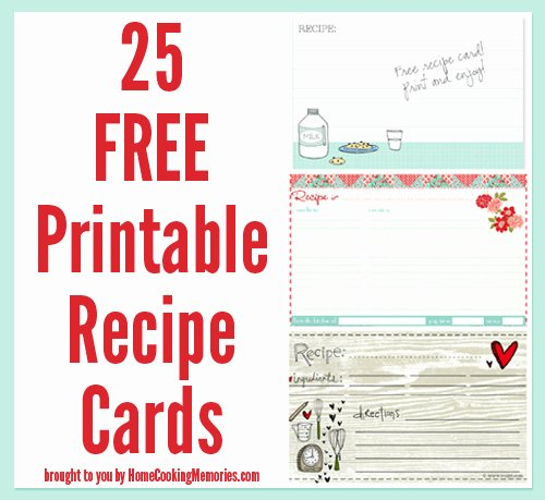 Christmas Recipe Card Template Best Of 25 Free Printable Recipe Cards Home Cooking Memories