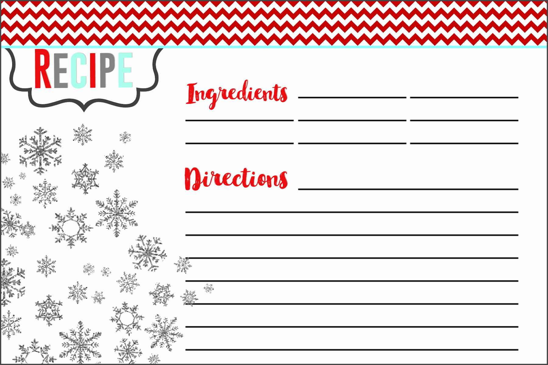 Christmas Recipe Card Template Best Of Everything You Need to Know to Host A Holiday Cookie Swap