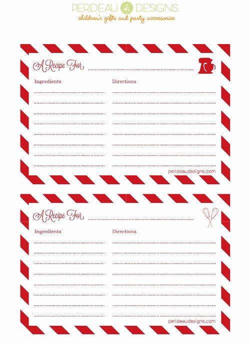 Christmas Recipe Card Template Elegant 25 Free Printable Recipe Cards Home Cooking Memories