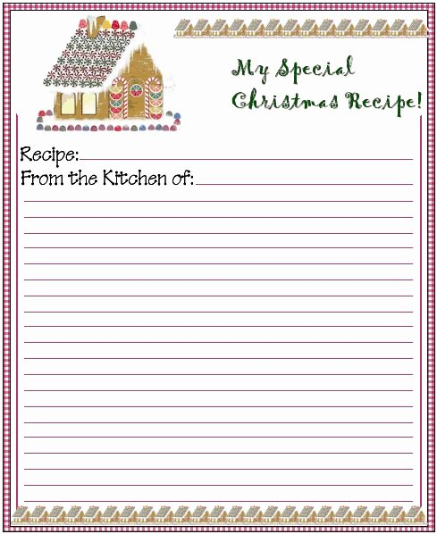 Christmas Recipe Card Template Elegant 78 Images About Gingerbread Recipe Cards On Pinterest