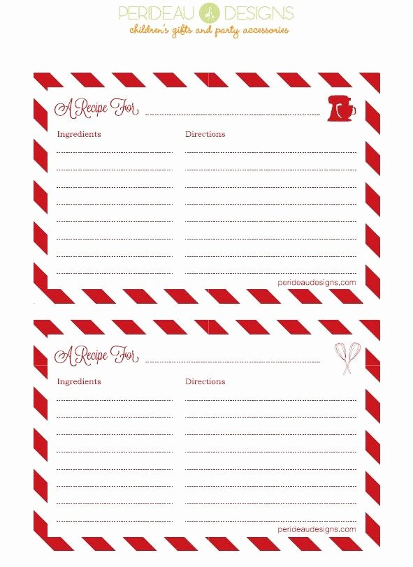 Christmas Recipe Card Template Elegant Best 25 Recipe Cards Ideas On Pinterest