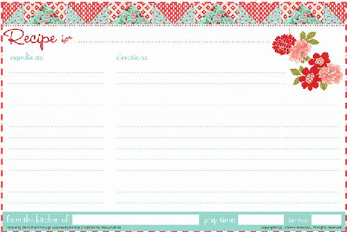 Christmas Recipe Card Template Inspirational 25 Free Printable Recipe Cards Home Cooking Memories