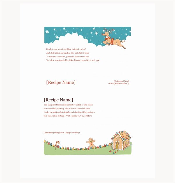 Christmas Recipe Card Template Luxury 17 Recipe Card Templates Free Psd Word Pdf Eps