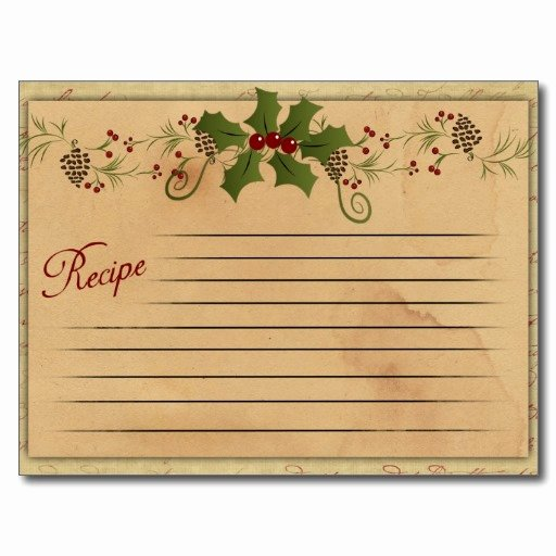 Christmas Recipe Card Template Unique the Nostalgic Appeal Of Recipe Cards
