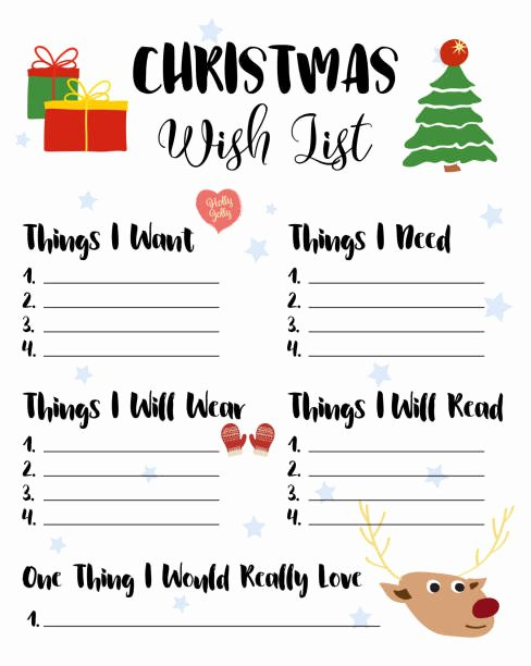 Christmas Wish List Template Best Of Royalty Free Wish List Clip Art Vector