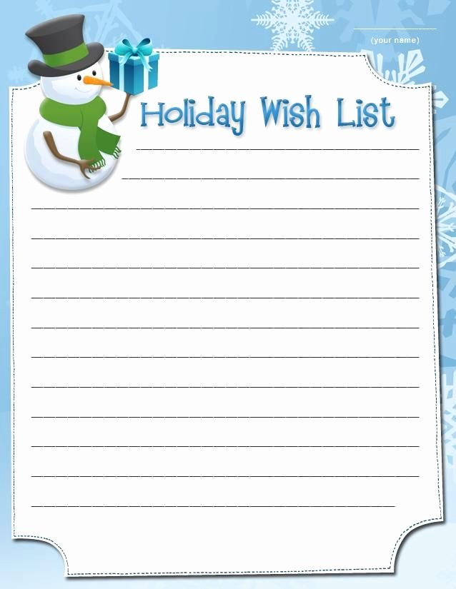Christmas Wish List Template Lovely Snowman Wish List Free Printable Coloring Pages