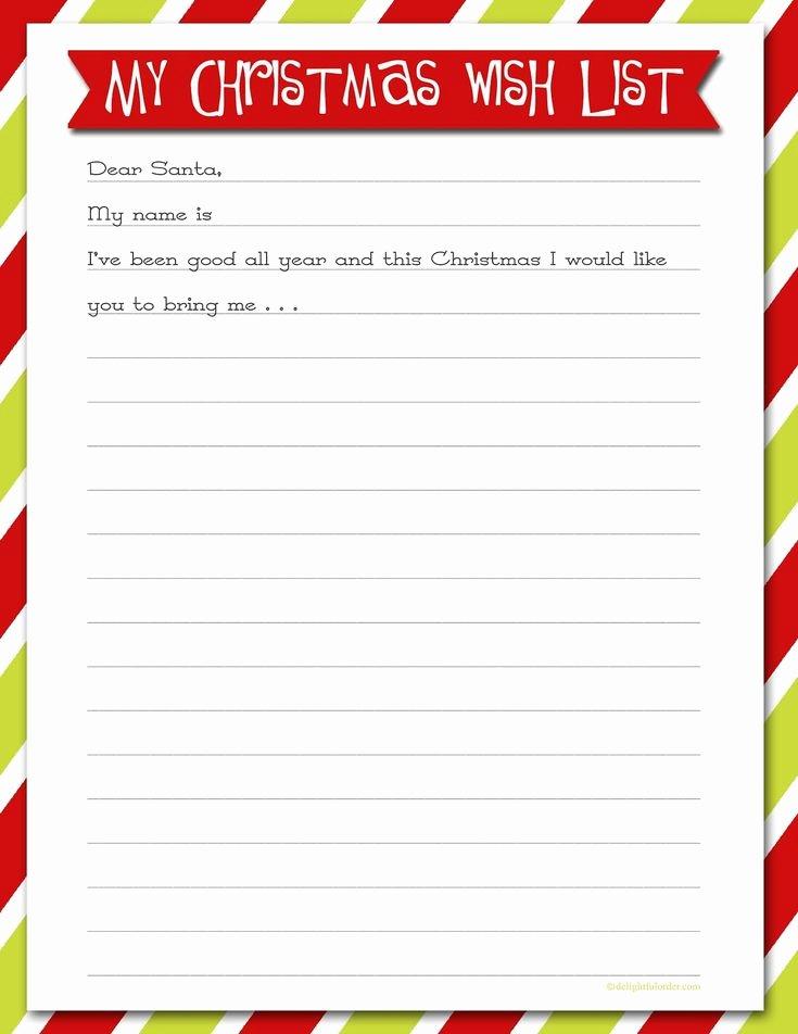 Christmas Wish List Template Luxury Best 25 Christmas List Printable Ideas On Pinterest