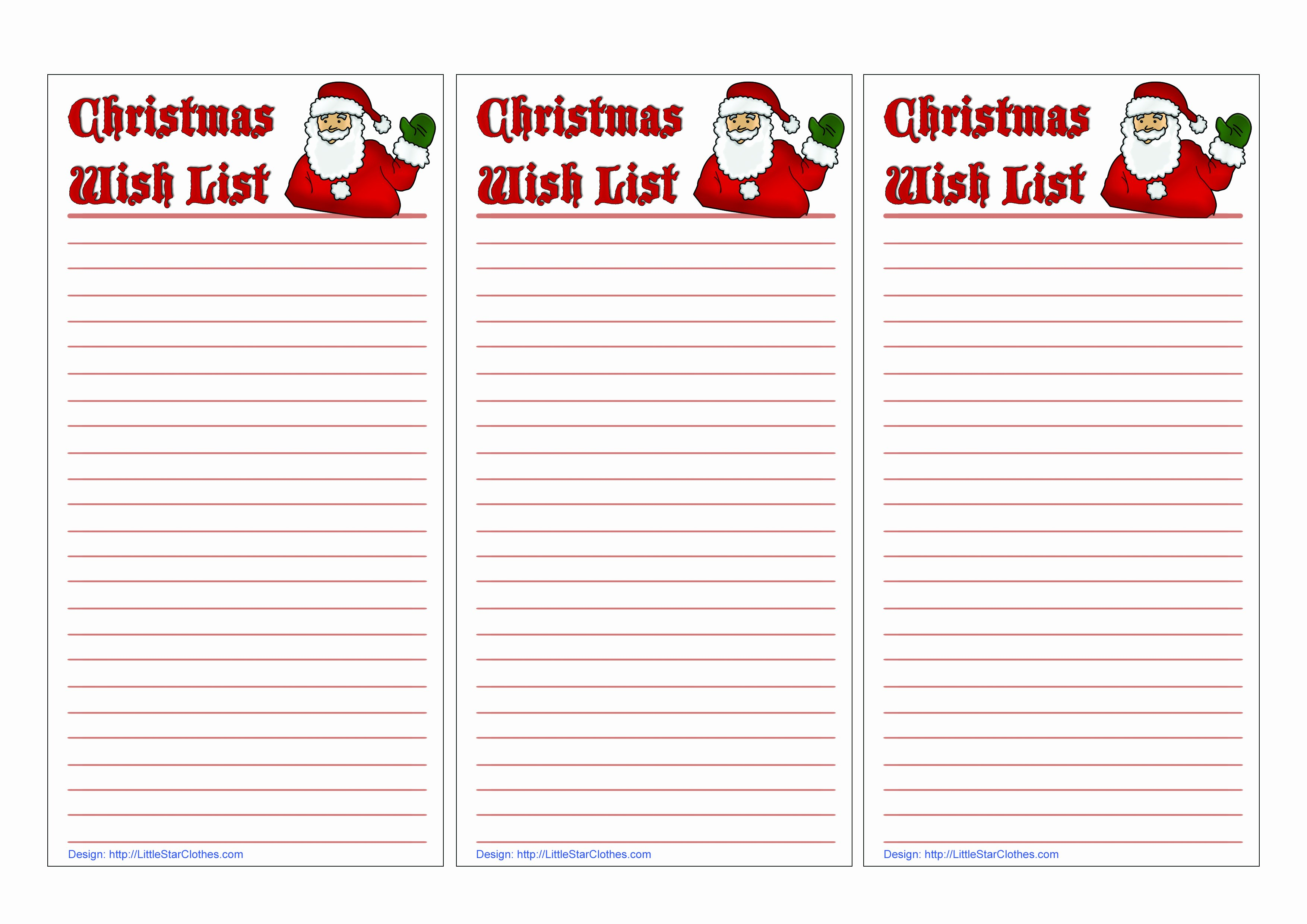 Christmas Wish List Template Luxury Free Printable Holiday Wish List for Kids Best Ideas