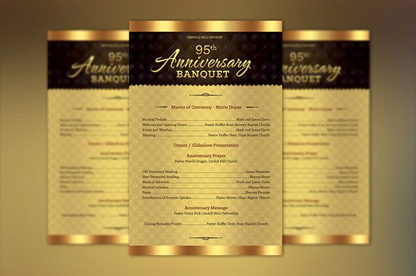 Church Anniversary Program Template Awesome Church Anniversary E Sheet Program Template On Behance