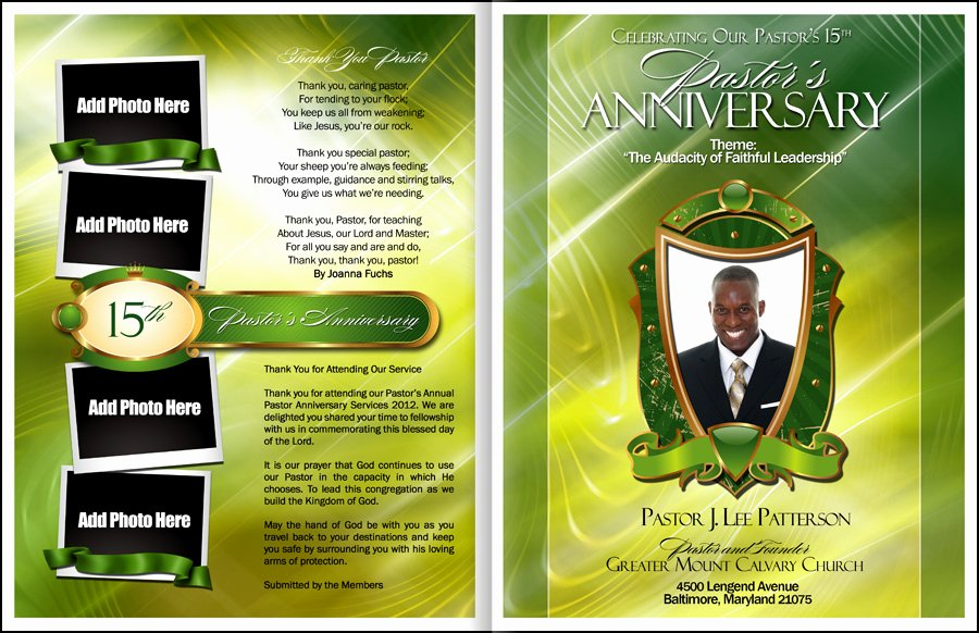 Church Anniversary Program Template Beautiful Abundant Pastor Anniversary Program