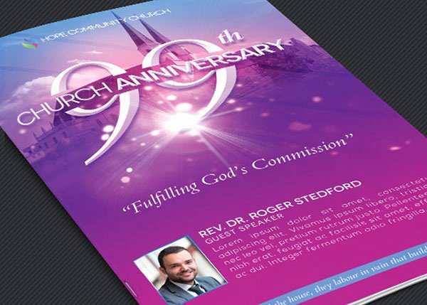 Church Anniversary Program Template Beautiful Church Celebration Program Template On Behance