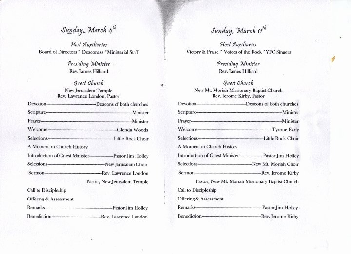 Church Anniversary Program Template Beautiful Sample Women S Day Program 2014