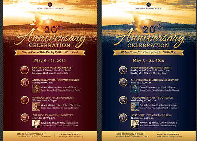 Church Anniversary Program Template Elegant Church Anniversary Flyer and Poster Template