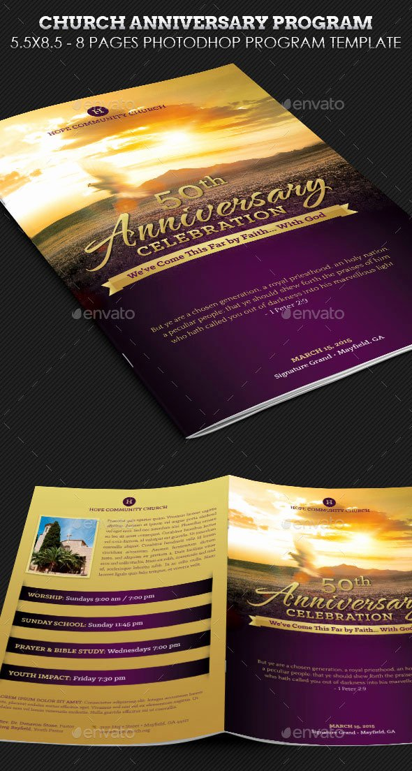 Church Anniversary Program Template Fresh 30 Eye Catching Psd & Indesign Brochure Templates – Bashooka