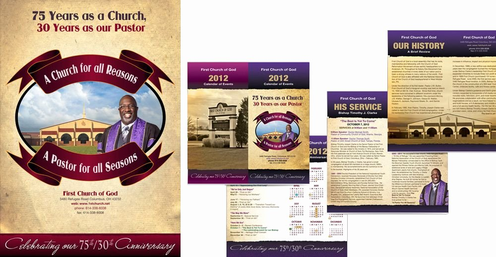 Church Anniversary Program Template Lovely Church Anniversary Program Cover Design
