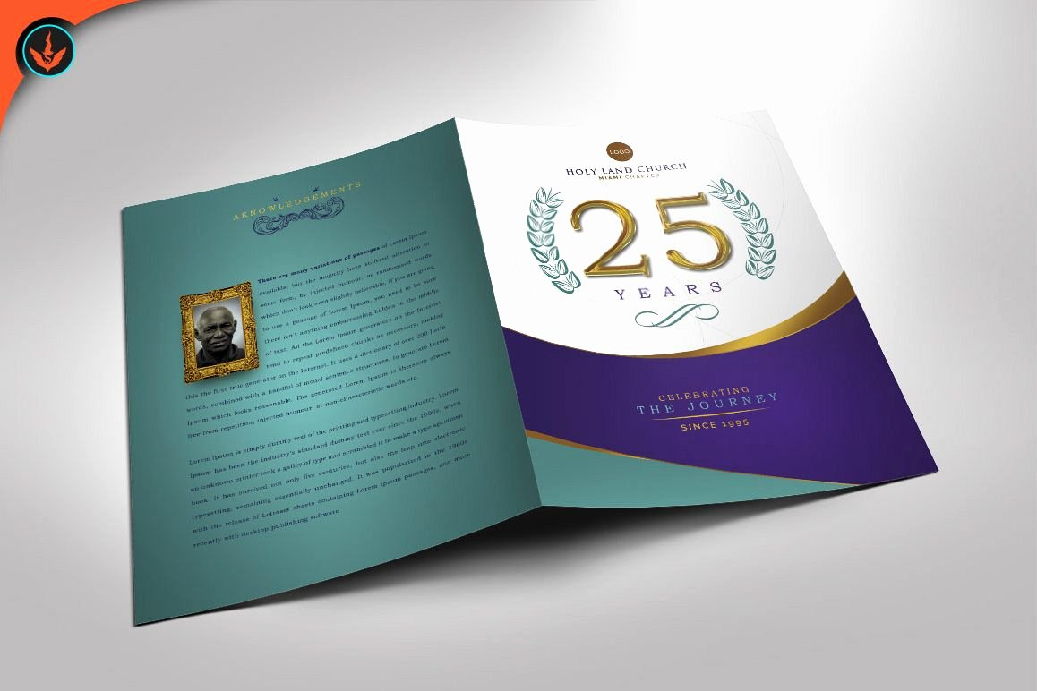 Church Anniversary Program Template Lovely Regal Church Anniversary Program Shop Template
