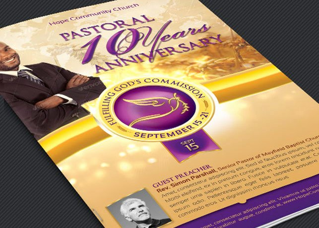 Church Anniversary Program Template New Church Anniversary Program Booklet Template Templates