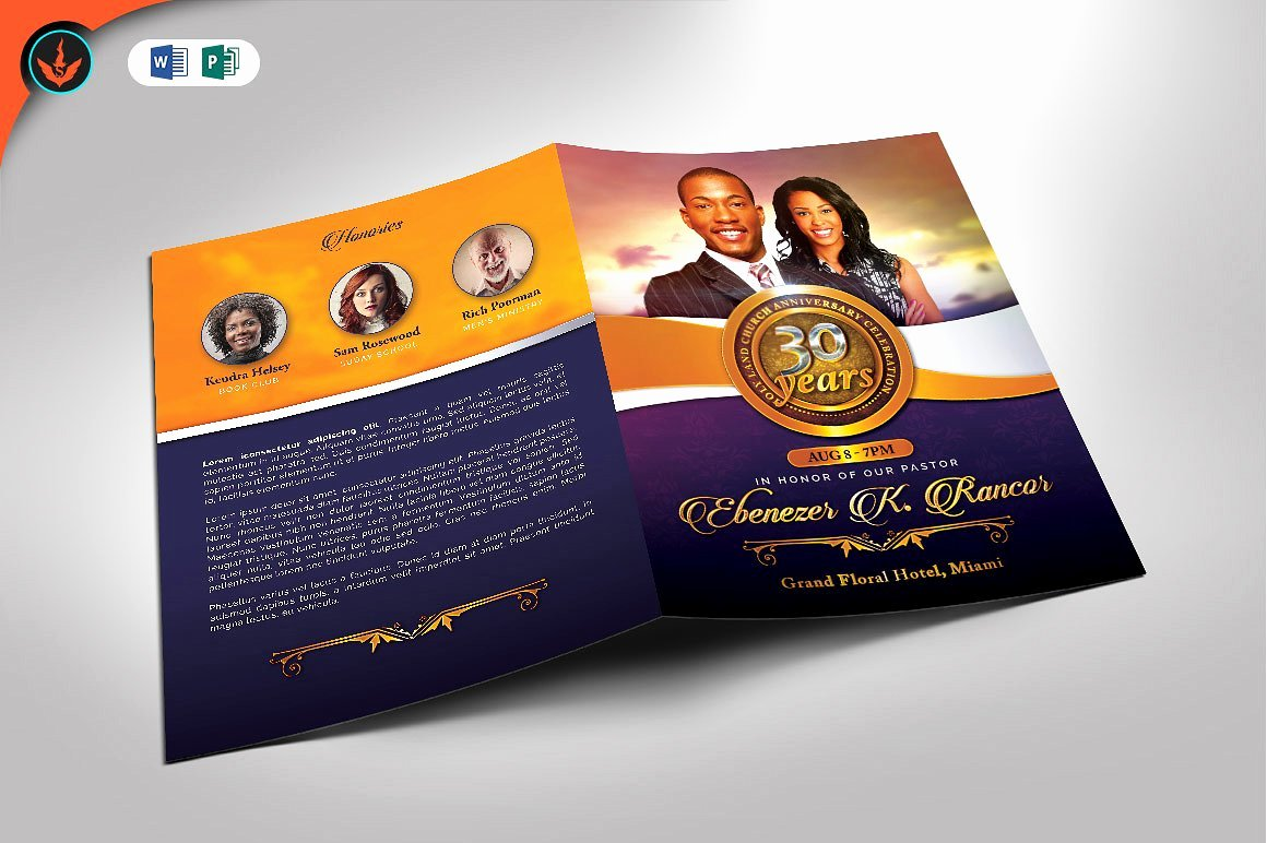 Church Anniversary Program Template New Church Anniversary Program Template Brochure Templates