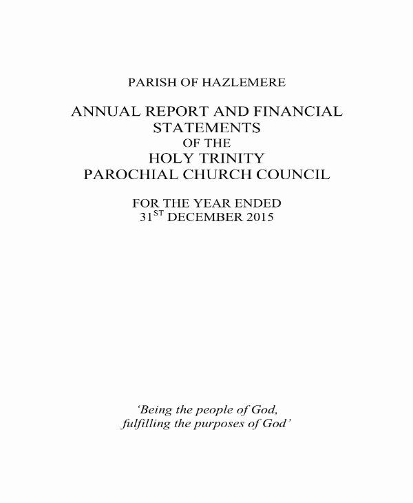 Church Annual Report Template Inspirational 14 Church Financial Report Templates Pdf