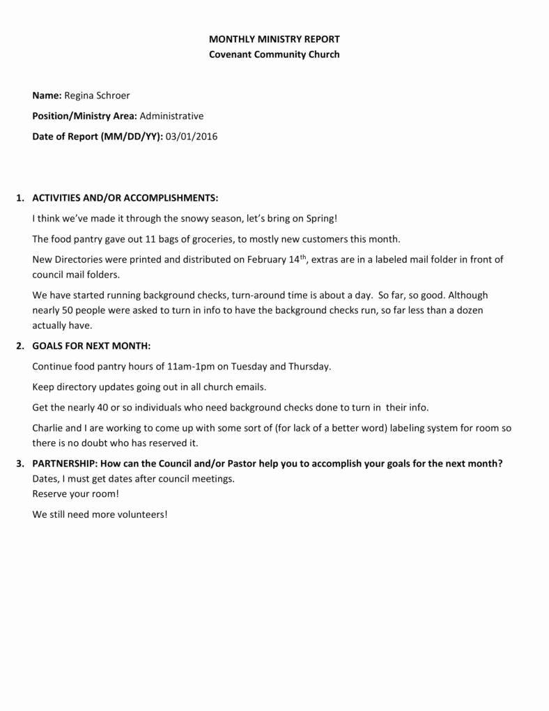 Church Annual Report Template New 10 Church Report Templates Pdf Doc
