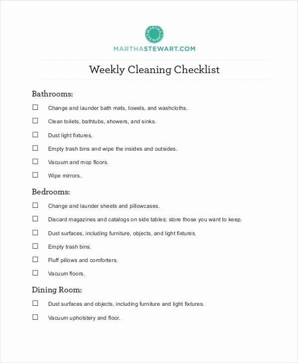 Church Cleaning Checklist Template Awesome Cleaning Checklist 23 Free Word Pdf Psd Documents