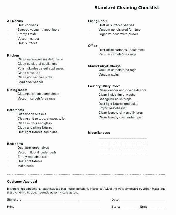 Church Cleaning Checklist Template Elegant Daily Restroom Checklist form Bathroom format In Excel