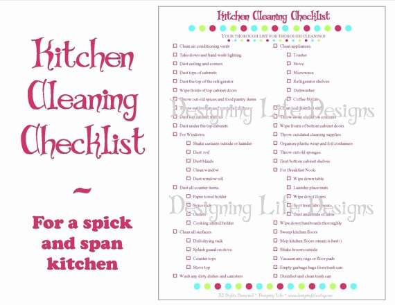 Church Cleaning Checklist Template Fresh Kitchen Cleaning Checklist Pdf Printable Home Management