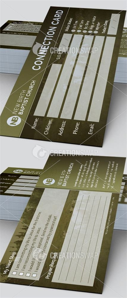 Church Connection Card Template Awesome 8 Church Connection Card Templates