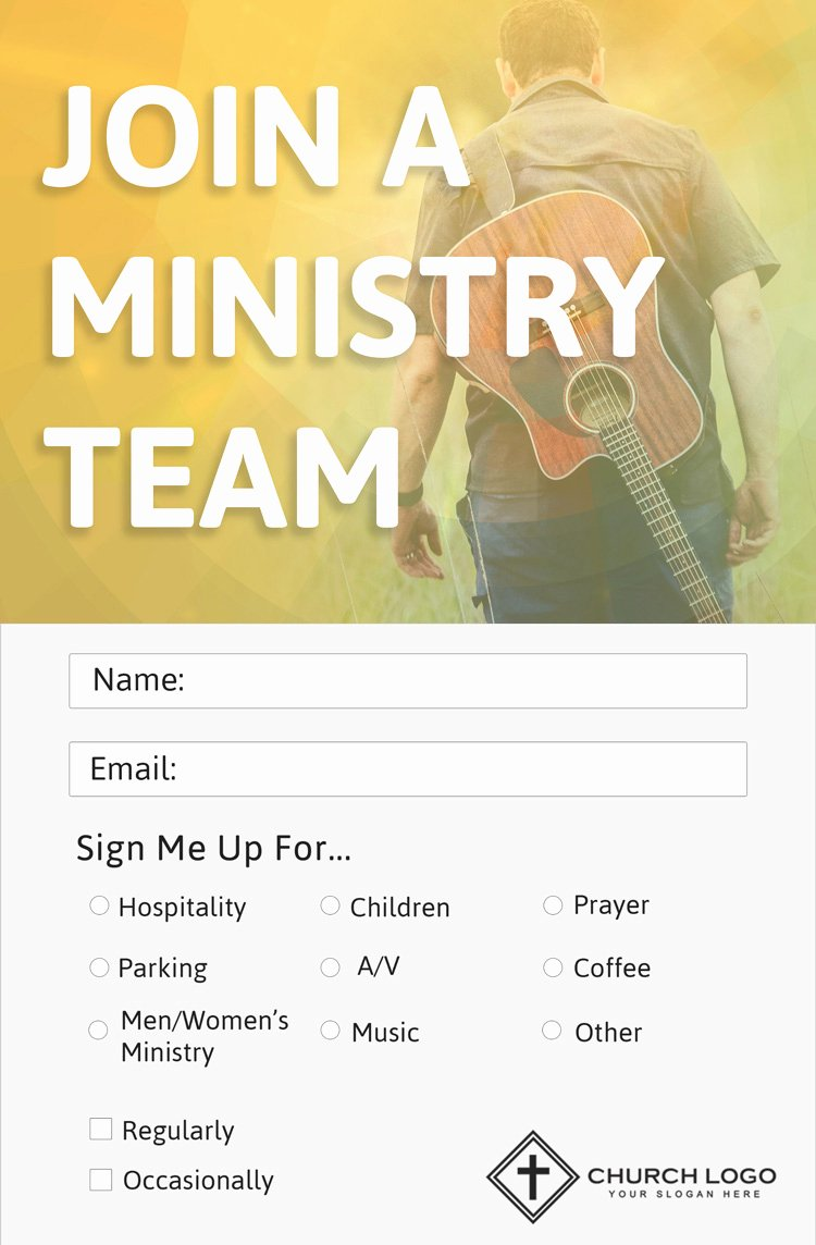 Church Connection Card Template Best Of Modern Church Connection Cards 5 Free Templates