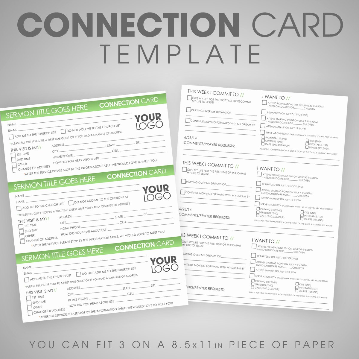 Church Connection Card Template Lovely Connection Card Template