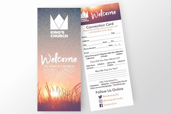 Church Connection Card Template Luxury Church Connection Card Invitation Templates On Creative