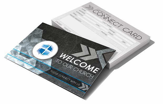 Church Connection Card Template Luxury Postcard Psd Template Church Connect Card Gray