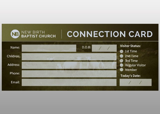 Church Connection Card Template Luxury Sheep Church Connection Card Card Templates On Creative
